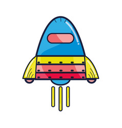 space rocket galaxy sky travel vector image