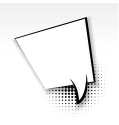 Square comic empty paper babble soft shadow vector