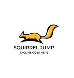 Squirrel jump design concept template suitable vector