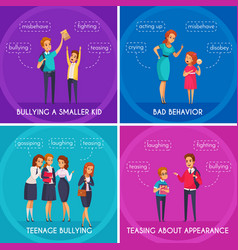 students bullying design concept vector image