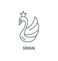 swan line icon linear concept outline vector image