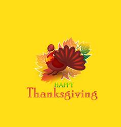 Thanksgiving turkey card background vector