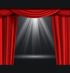 theater curtain luxury red curtains at black vector image