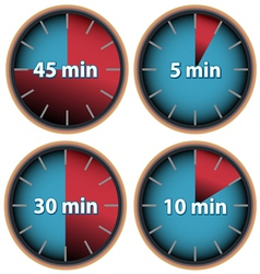 Time web icons made in vintage vector image