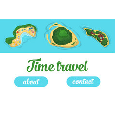 travel and tourism booking concept template vector image