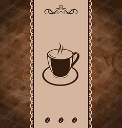 Vintage background for coffee menu coffee bean vector image