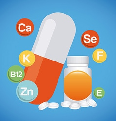 vitamins and suplements vector image