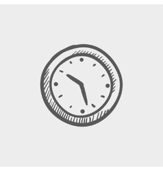 Wallclock sketch icon vector