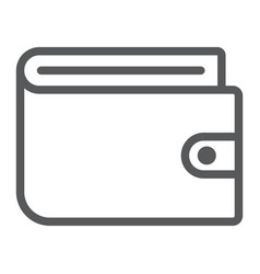 wallet line icon e commerce and marketing vector image
