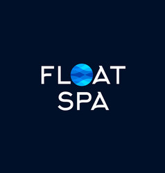 Water spa floating spa logo vector