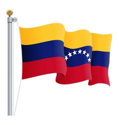 waving venezuela flag isolated on a white vector image
