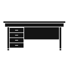 wood desktop icon simple style vector image