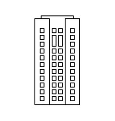 building architecture residential skyscraper vector image