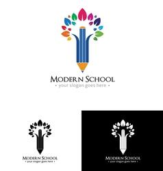 Colorfull school logo vector