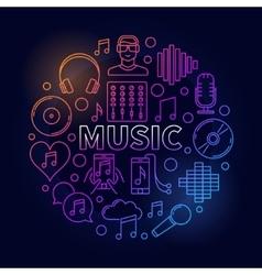 Music dark round vector image vector image