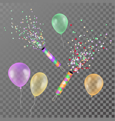 realistic colorful transparent balloons for vector image