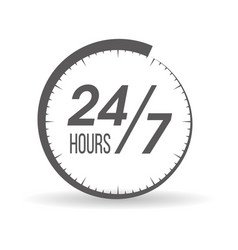 round the clock vector image