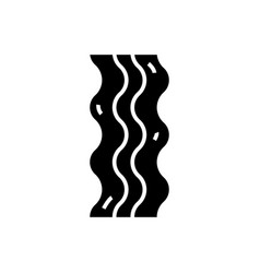 bacon icon black sign on vector image