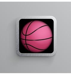 basketball goal black web icon vector image