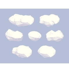 Cube World Clouds vector image
