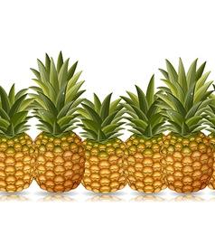 seamless border of pineapple vector image