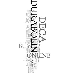 you can buy deca durabolin online or offline text vector image vector image