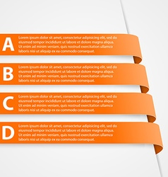 Abstract 3D Ribbons Infographic vector image