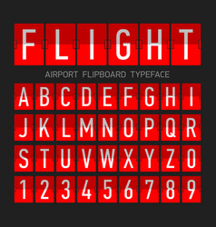 airport flipboard flat style font mechanical vector image
