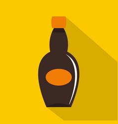 big bottle icon flat style vector image