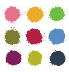 Colorful Stains Blots Splashes Set vector image