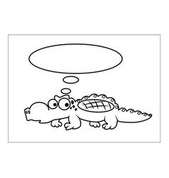 Crocodile cartoon vector image
