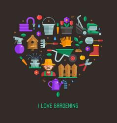 i love gardening card vector image vector image