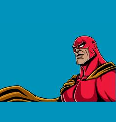 superhero portrait red vector image vector image
