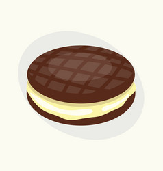cookie chocolate homemade breakfast bake cakes vector image vector image