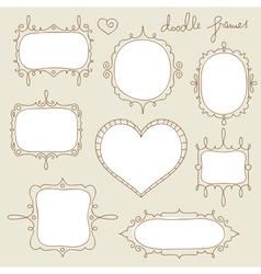 doodle frame set vector image