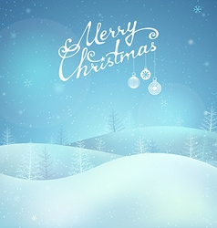Merry Christmas night landscape vector image