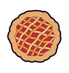 pie dessert food vector image