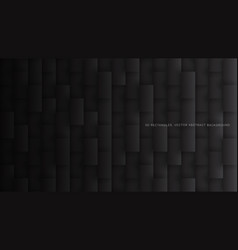 3d rectangles pattern simple dark gray abstract vector