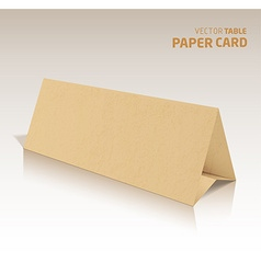 3d table papercraft card isolated on a grey vector image