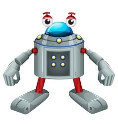 A cute gray robot vector