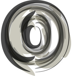 Abstract letter o vector