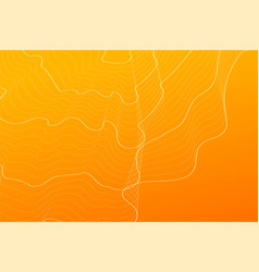 Abstract orange contour lines background vector