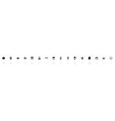 aquarium - flat icons vector image