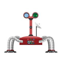 Arachnid robot with radar and powerful satellite vector
