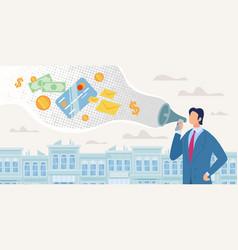 Bank customers loan advertisement concept vector