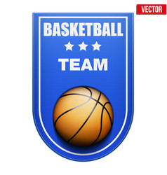 Basketball badge and label vector