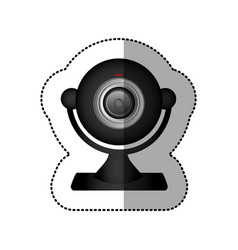 Black digital computer camera icon vector