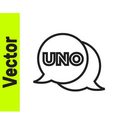 Black line uno card game icon isolated on white vector