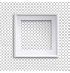 blank white picture frame square empty picture vector image
