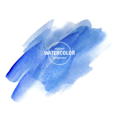 Blue watercolor texture on a white background vector